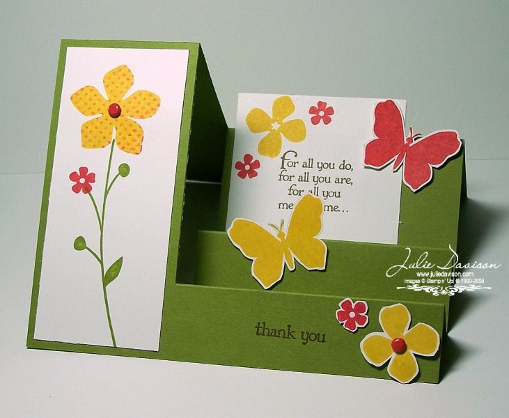 Side Step Thank You ~ TLC257 by juls716 - Cards and Paper Crafts at Splitcoaststampers