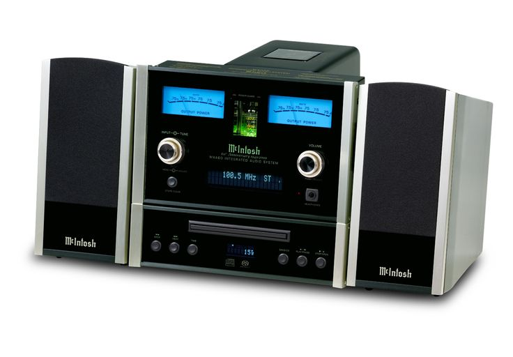 """McIntosh MXA60 Lifestyle System. $7,000 (including speakers). The finest """"Executive System"""" (CD, Radio, Amp, & Speakers w/Remote Control package) by High End American Legend, McIntosh Labs. Uses a vacuum-tube pre-amp stage, with 75-watt/channel solid state amplifier. Clean & powerful enough to drive high-quality speakers of floor-size, but only sold WITH its custom speakers (which are very good). Has a Preamp Stereo Output to use with subwoofer, or to drive an outboard amplifier ."""
