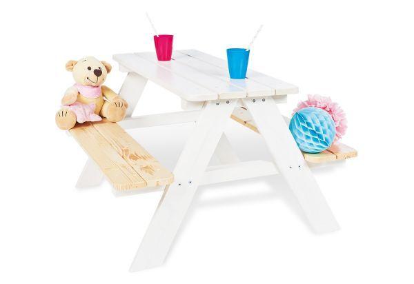 Kindersitzgarnitur Nicki Fur 4 Weiss Klar Sitzen Kinder
