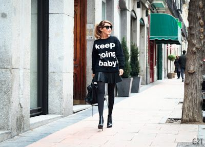 KEEP GOING BABY - CON DOS...TACONES!!!