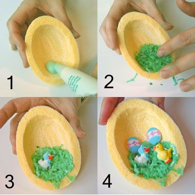 How to Make Panoramic Sugar Easter Eggs: A Step-by-Step Photo Guide: Decorate the Inside of the Egg