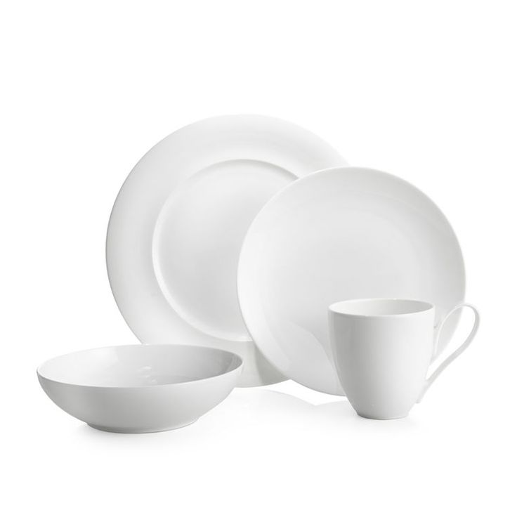 The Skye Dinnerware Collection takes inspiration from the rolling hills and serene landscape of the Isle of Skye. Crafted of beautiful white bone china, the warm tone is given a fresh perspective through the subtle ridge detail seen in the dinner plate and the dramatic elegance of the mug's oversized handle design. Casual enough for everyday dining, the Skye Dinnerware Collection doubles as a formal, sophisticated table setting.