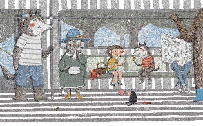 Ilustración de El autobús de Marianne Dubuc