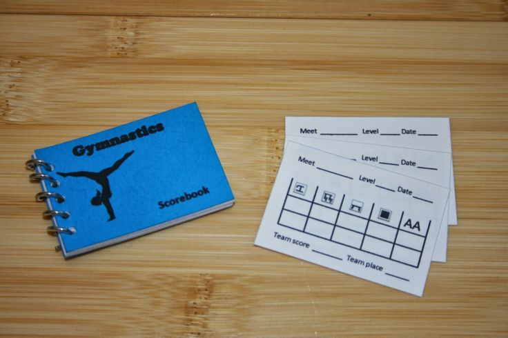 Arts and Crafts for your American Girl Doll: Gymnastics score book and score card for American Girl Doll
