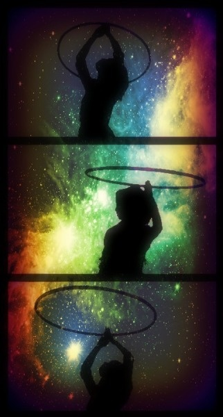 Galaxy hooping. <3 Hoopin' hooper.