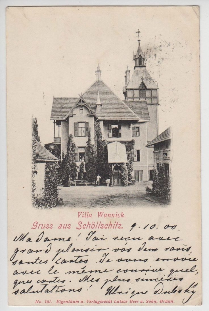 AK - Želešice - Schöllschitz - Brno-venkov - Brünn - Villa Wannick - 1900   eBay