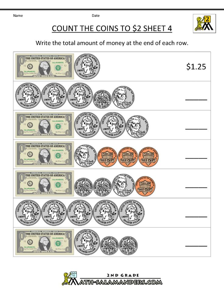 free money worksheets count the coins to 2 dollars 4 2nd grade 2nd grade worksheets money. Black Bedroom Furniture Sets. Home Design Ideas