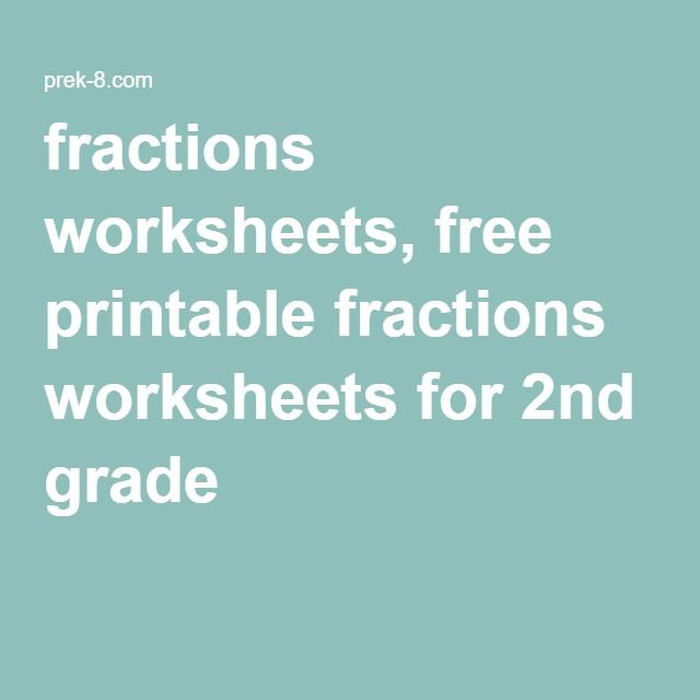 12 best Education images on Pinterest | 2nd grades, Fractions ...