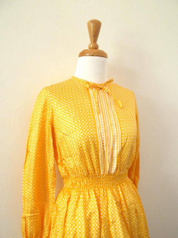 Vintage 1960s Sunshine Yellow Mod Dress by missmittensvintage, $30.00