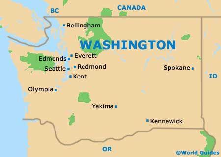 where is seattle washington on the map washington dc map
