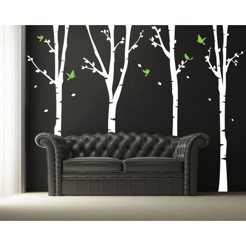 Found it at Wayfair - Four Super Birch Trees Wall Decal