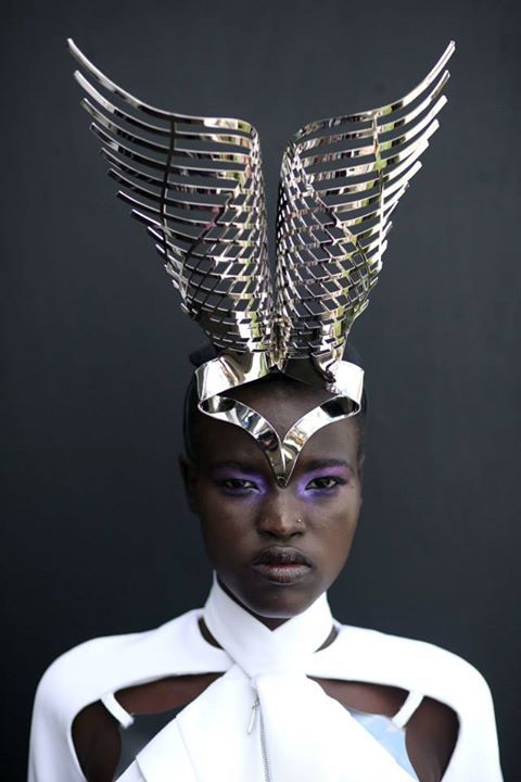 ☼ Cosmic Couture ☽ Celestial Costumes ☼ Fabulous winged crown headress