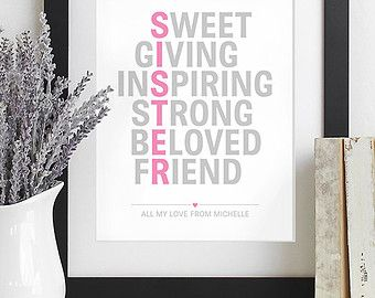 Sister Christmas Gift for Sister Gift Maid of Honor Sisters Birthday Gift Sister Christmas Presents for Sister Best Of Friends