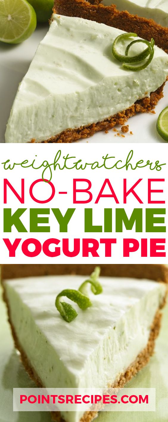 No-Bake Key Lime Yogurt Pie (Weight Watchers SmartPoints)