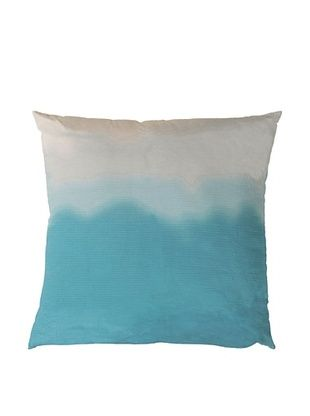 65% OFF Surya Ombre Throw Pillow (Pastel Turquoise)