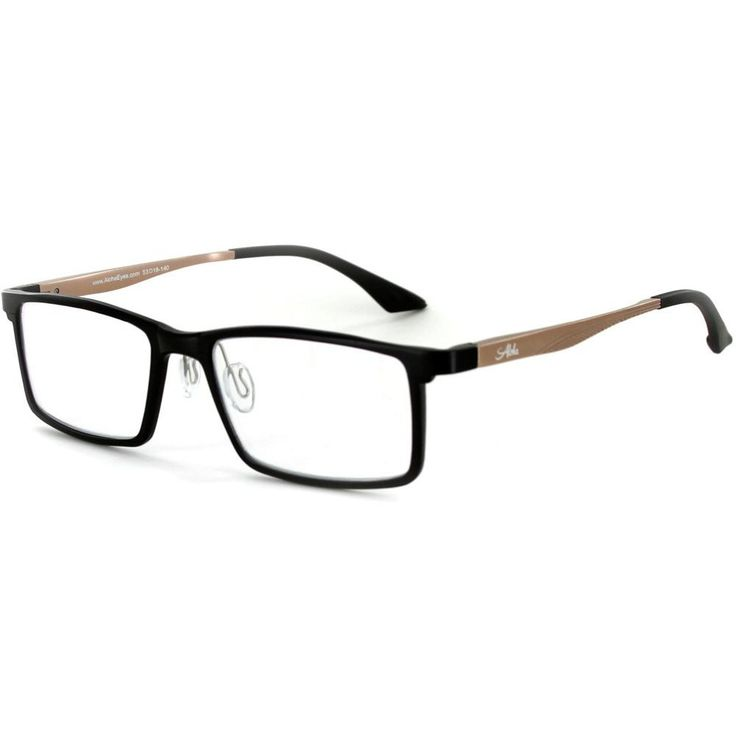 """""""Alumni RX04"""" Optical-Quality Reading Glasses with RX-Able Aluminum Titanium Alloy Frames for Men - 53mm x 18mm x 140mm"""
