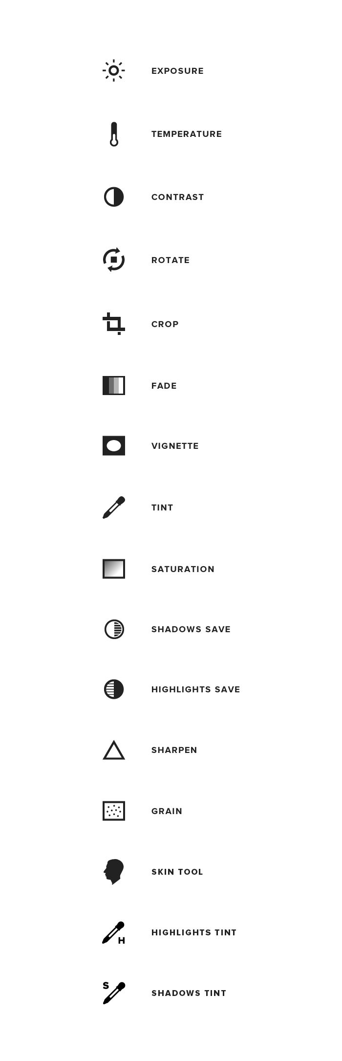#VSCOcam tutorial — icons