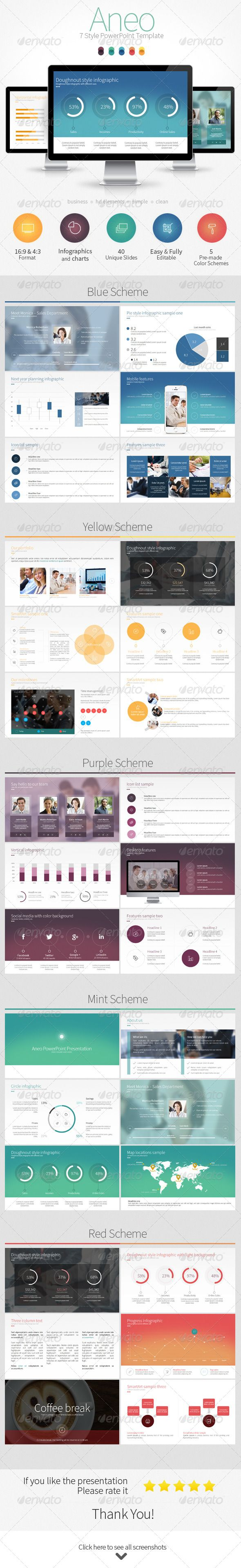 Aneo - 7 Style PowerPoint Template