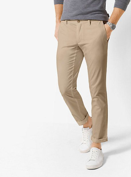 Michael Kors Skinny-Fit Cotton Chinos