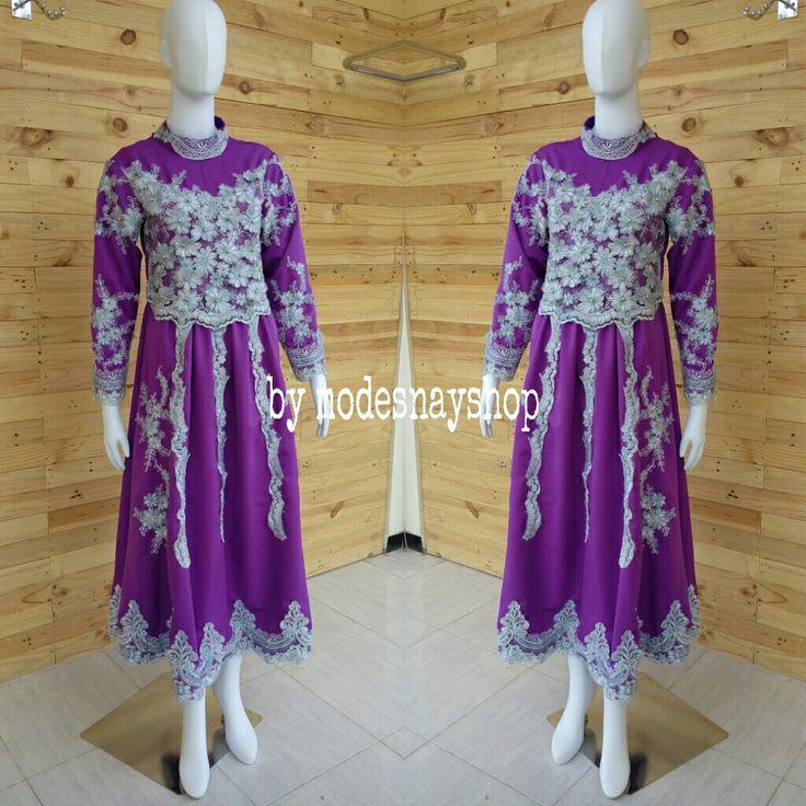 Gowwn purple brocade mutiara Please pree order 081334142439