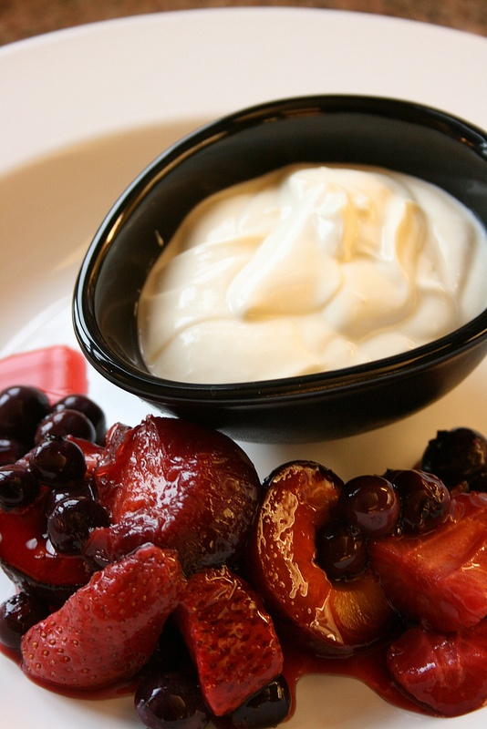 Compot and yoghurt