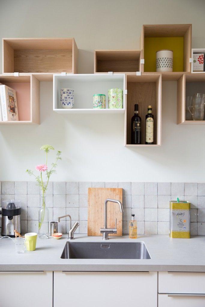 Muuto — Mini stacked as kitchen shelves. #muuto #muutodesign #newnordic