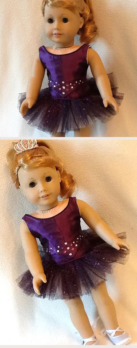 What a stunning holiday gift! Kathi M. made this gorgeous jewel-toned purple classical tutu and bodice set using the Lee & Pearl Ballet Performance Bundle for 18 dolls. Get this amazing, just-like-the-real-thing pattern — which includes patterns for classical and romantic tutus, as well as mix-and-match fitted bodices, panty and basque — in the Lee & Pearl Etsy store at https://www.etsy.com/listing/271748202/ballet-performance-bundle-for-18-dolls