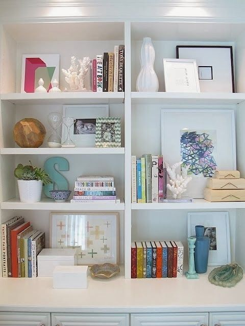 Bookshelf decoration ideas