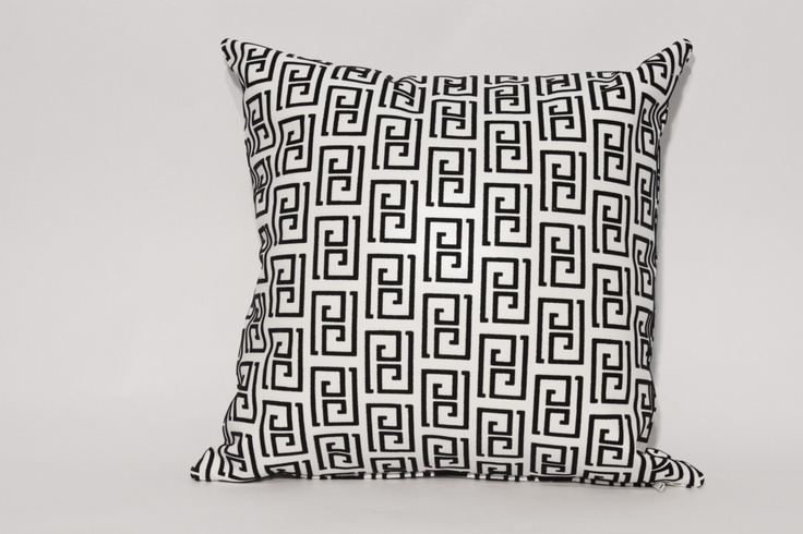 """Ithaco Throw Pillow Custom made throw pillow with our """"Ithaco"""" fabric seen in a variety of colour tones. 18'x18' $49.95 each Other sizes and styles available. Made in Canada"""