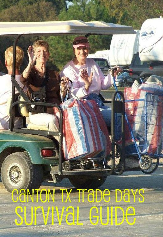 With Canton First Monday just down the road, many of our guests book a cottage at our resort just to get a jump start on the Trade Days shopping.  Navigating the country's largest flea market is a lot of fun, but can turn into one of those stories you like to tell your kids about to humble ...