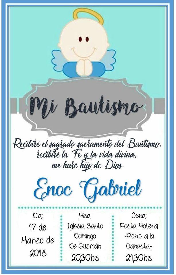 Tarjeta Invitacion A Bautismo Bautizo Souvenirs