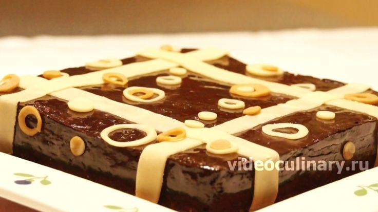 Вкусный, нежный и простой в приготовлении Торт Сувенир из бисквитного миндального теста с шоколадом. Видео и фото рецепт торта Сувенир от Бабушки Эммы