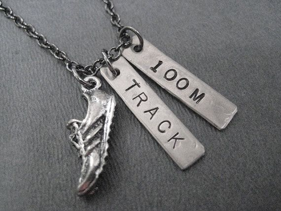 RUN TRACK 100 METER Necklace  Running Necklace on 18 by TheRunHome, $19.00