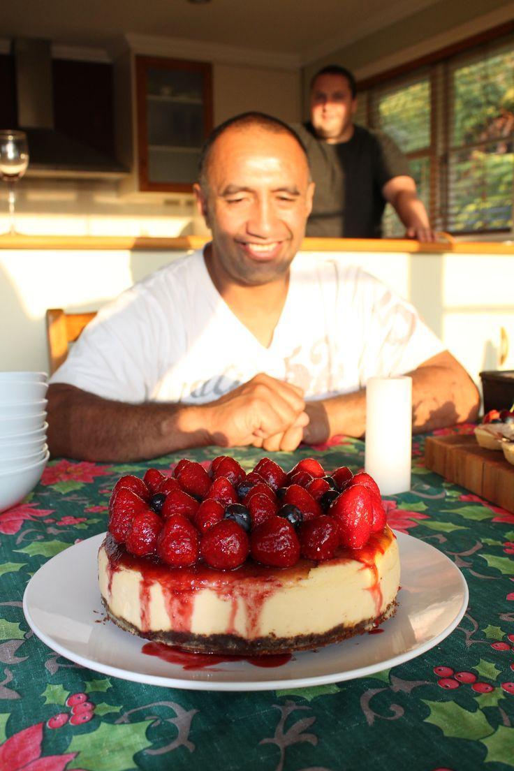 birthday cheese cake.....yummy