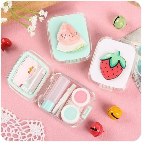 Pastel Fruit Contact Lens Case