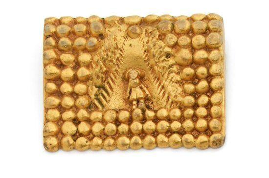 * Line Vautrin brooch, bronze dore