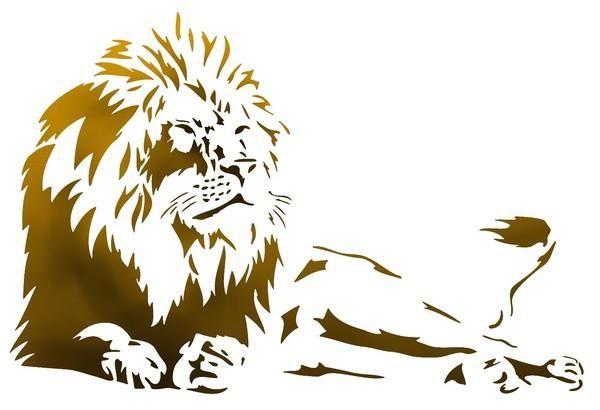 Lion allongé