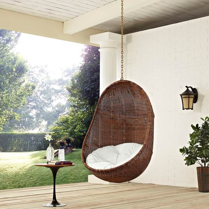 Bean Outdoor Patio Swing Chair Without Stand In Coffee White Lifestyle Patio Swing Chair Swinging Chair Patio Hanging Chair