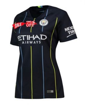 5fa7a2688 2018-19 Cheap Women Jersey Manchester City Away Replica Black Shirt  CFC508
