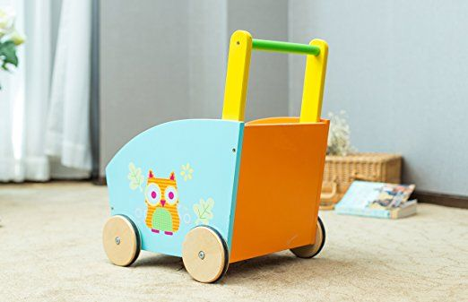 Amazon.com: Labebe Baby Walker, 2-in-1 Use as Toy Chest, Orange Owl Baby Push Toy with for 1-3 Years, Baby Wagon/Activity Walker Baby/girl walker/Learning Walker Girl/Baby Walker Wheels/Push Walker Boy: Toys & Games