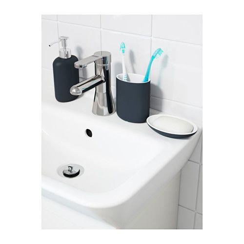 EKOLN Toothbrush holder - dark gray - IKEA