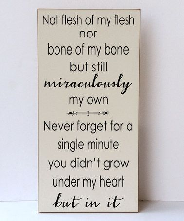 Cream & Brown 'Miraculously My Own' Wall Sign #zulily #zulilyfinds