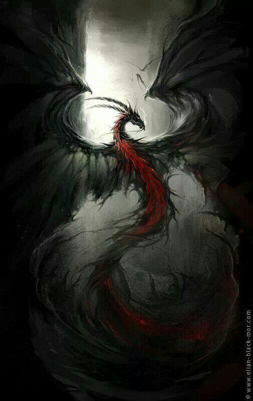 western fire-back smoke dragon