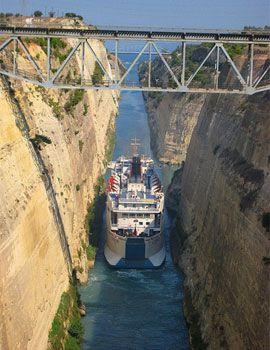 El Canal de Corinto > El Peloponeso > Grecia