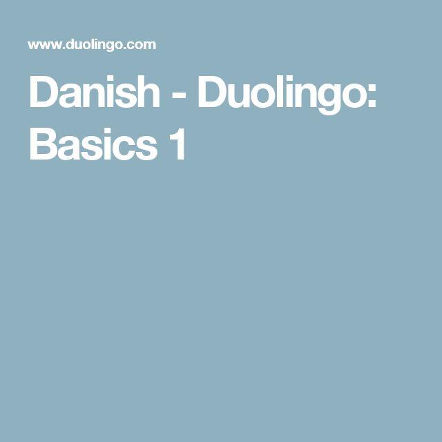 Danish - Duolingo: Basics 1