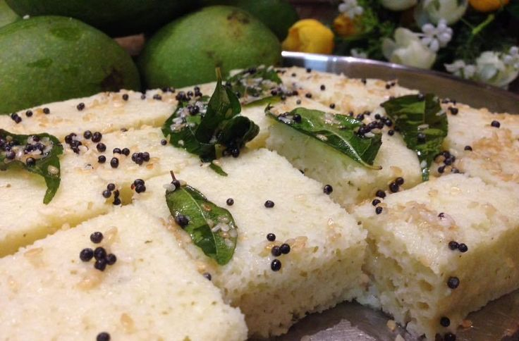 Green Mango Rava Dhokla