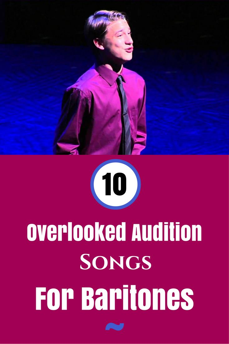 Great audition songs for baritones! http://theatrenerds.com/10-overlooked-audition-songs-for-baritones/