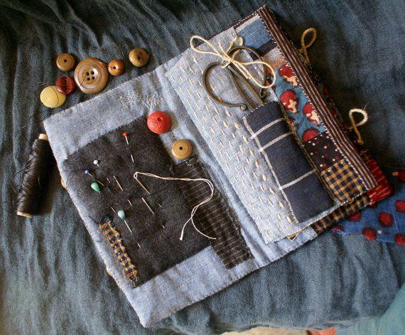 naaien katoen en linnen boeken oude Japans wol door bluesamovar