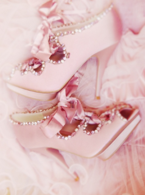Pink shoes fit for royalty