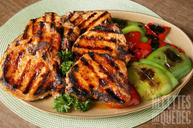 Côtelettes de porc sur #BBQ #recettesduqc #porc